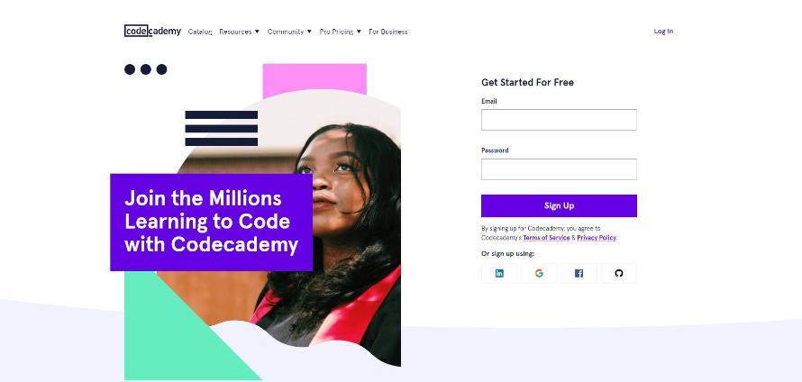 Trang web tự học lập trình miễn phí Code Cademy