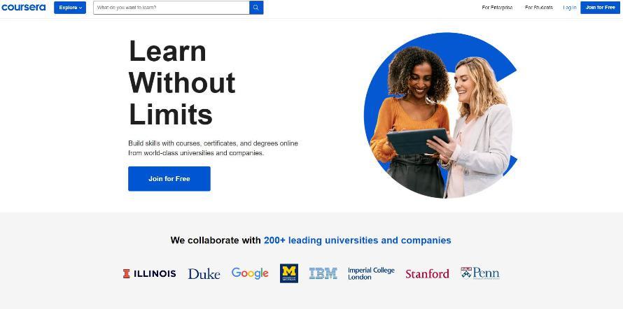 Khóa tự học lập trình web online coursera